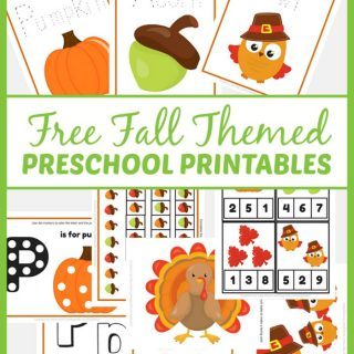 Free Fall Themed Preschool Printables at B-Inspired Mama