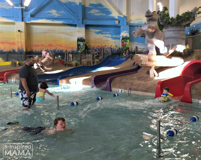 Our Kalahari Indoor Water Park Adventure - Enjoying the Kids Area - at B-Inspired Mama