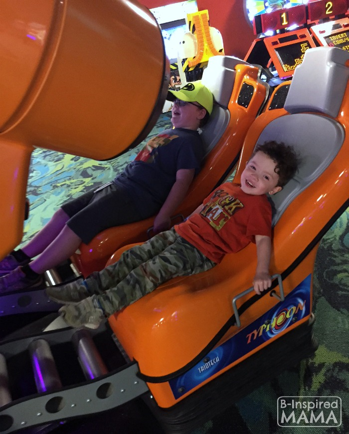 Our Kalahari Indoor Water Park Adventure - Loving the Rides in the Arcade - at B-Inspired Mama