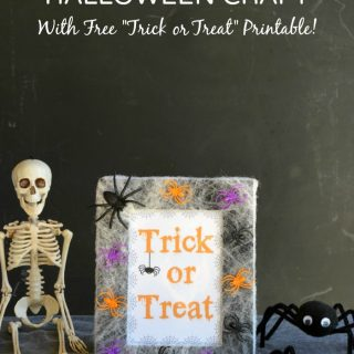 Simple Spider Web Picture Frame Halloween Craft - B-Inspired Mama