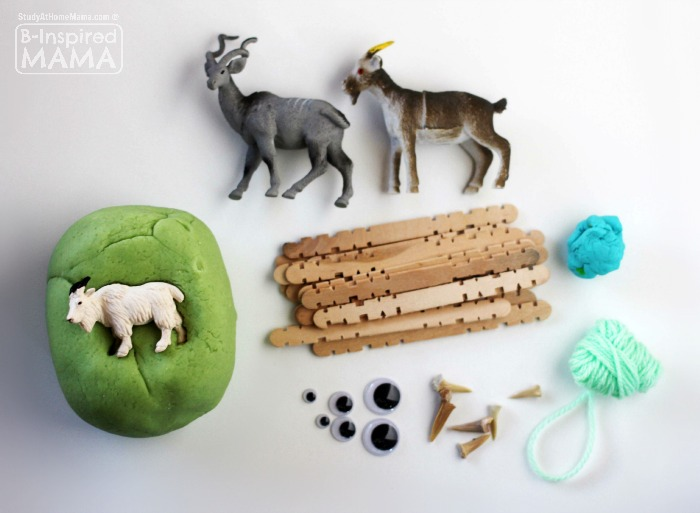 Billy Goats Gruff Play Dough Kit for Kids - Materials - at B-Inspired Mama