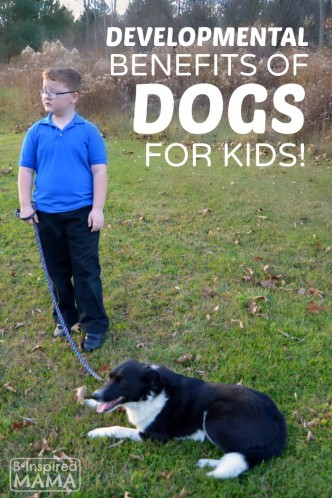 Developmental Benefits of Having a Dog for Kids - Sawyer and Olive - at B-Inspired Mama