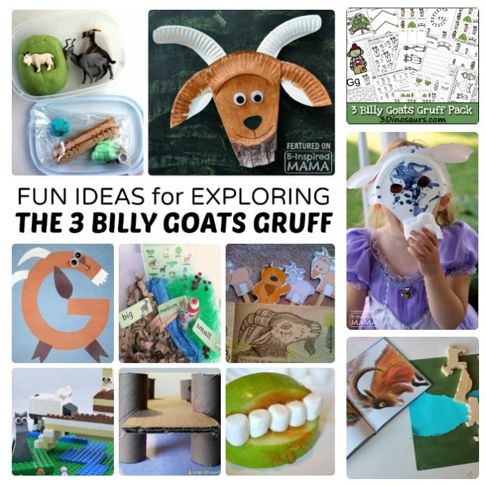 Fun Kids Activities for Exploring The 3 Billy Goats Gruff