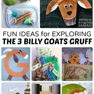 Fun Kids Activities for Exploring The 3 Billy Goats Gruff - at B-Inspired Mama