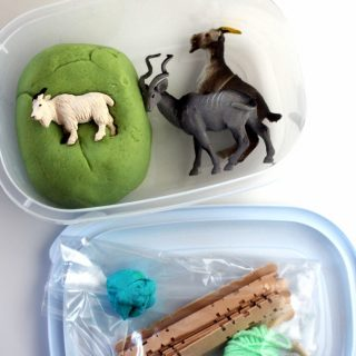 A Three Billy Goats Gruff Play Dough Kit for Kids