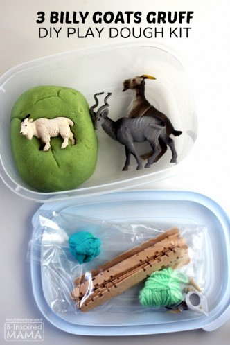 Three Billy Goats Gruff Play Dough Kit for Kids - at B-Inspired Mama