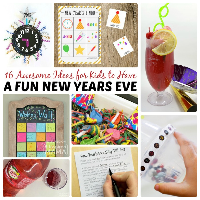 16 Awesome Ideas for New Years Eve for Kids + A Kid-Friendly Party Punch Recipe - at B-Inspired Mama