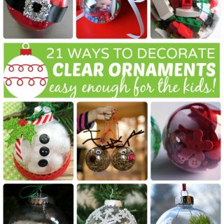 21 Homemade Christmas Ornaments Using Clear Fillable Ball Ornaments - at B-Inspired Mama