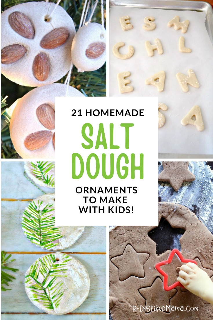 21 Homemade Salt Dough Ornaments for Kids