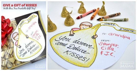 Mixed Mama Paralyzed Heals Coloring Page: A Printable Gift Tag For A Sweet Gift Of Hershey's KISSES