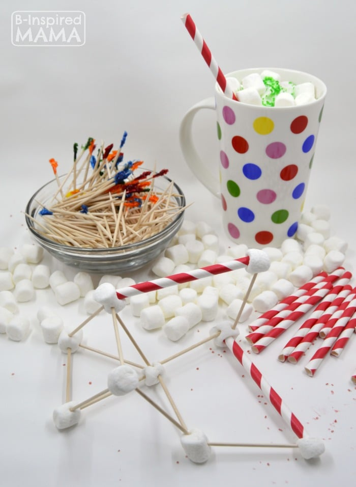 An Invitation to Make Marshmallow Sculptures while Enjoying Hot Chocolate - at B-Inspired Mama