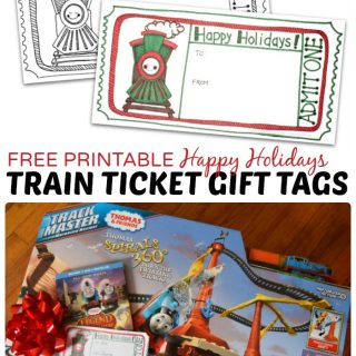 FREE Printable Train Ticket Gift Tag - Perfect for a Train Themes Holiday Gift