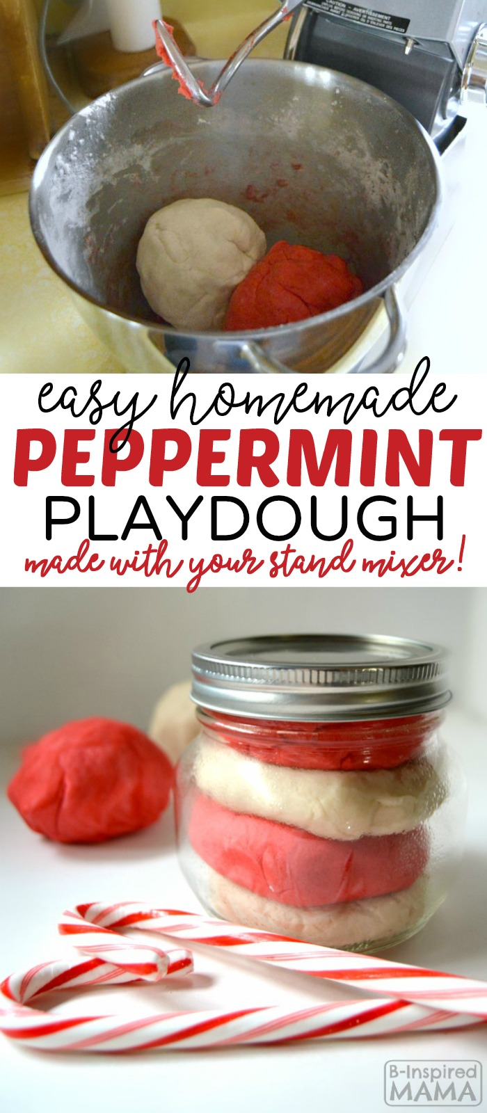 Homemade Peppermint Playdough Recipe - Made Easy with a Stand Mixer