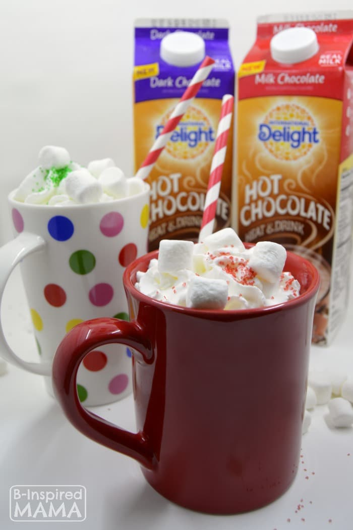 International Delight Hot Chocolate and Marshmallow Sculptures - A Fun and Creative Winter Kids Activity - at B-Inspired Mama