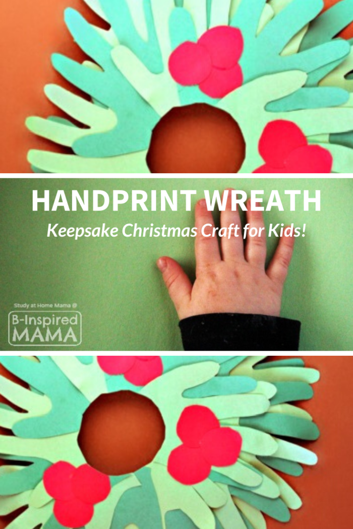 Kids Handprint Wreath Craft for Christmas