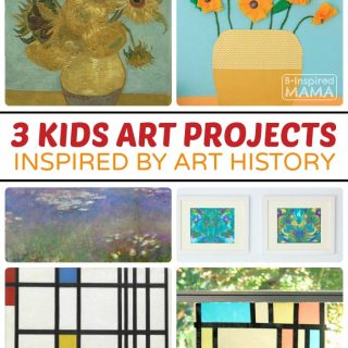3 Awesome Kids Art Projects Inspired by Art History - at B-Inspired Mama