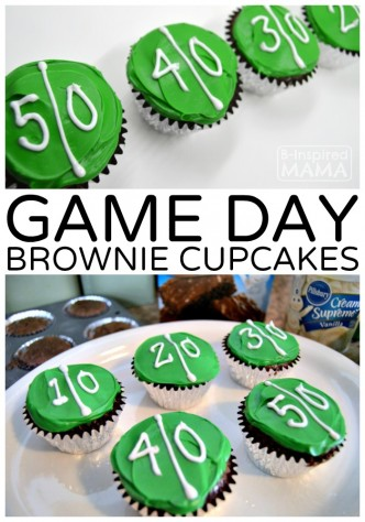 Easy Game Day Brownie Cupcakes - Our New Football Game Watching Tradition - at B-Inspired Mama