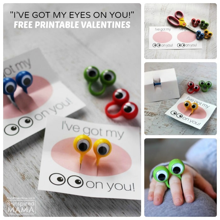 I've Got my Eyes on You Valentine with FREE Valentines Printables - B-Inspired Mama