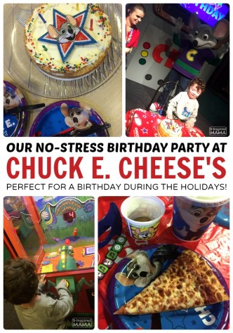 JC's No Stress Chuck E Cheese's Birthday Party - Perfect for Birthday During the Busy Holiday Season - at B-Inspired Mama