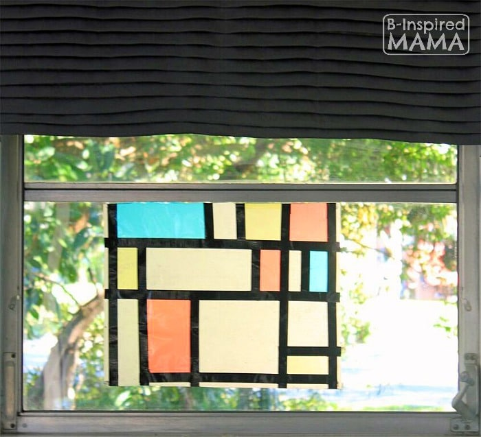 Mondrian Inspired Art Project + 2 More Art Projects for Kids Inspired by Family Artists - at B-Inspired Mama