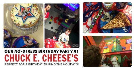 J C S No Stress Chuck E Cheese S Birthday Party