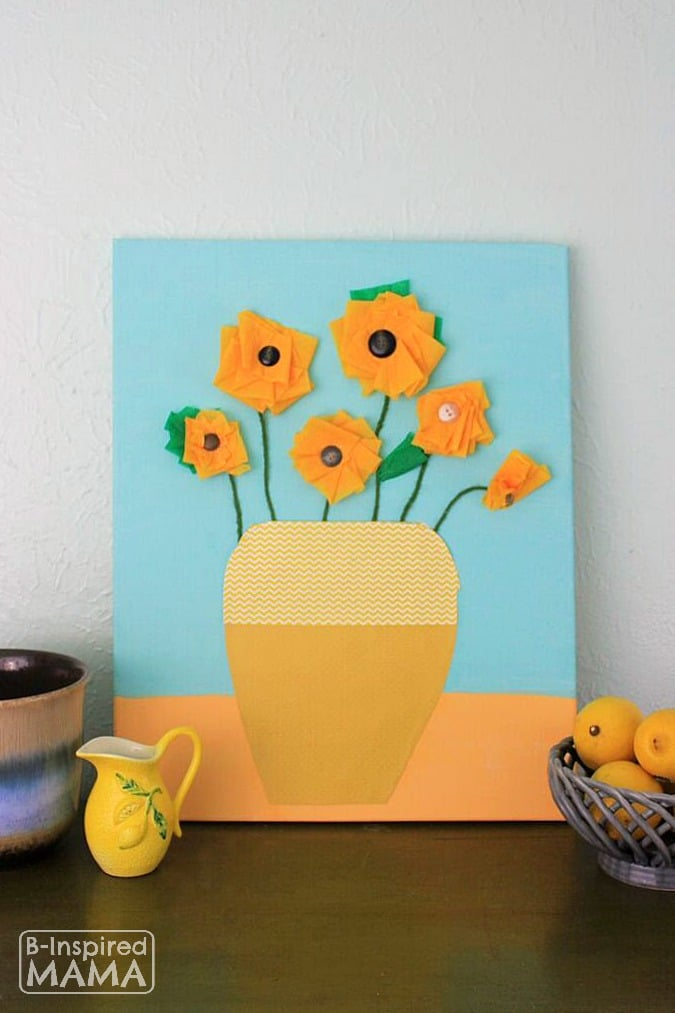 Van Gogh Inspired Art Project + 2 More Art Projects for Kids Inspired by Family Artists - at B-Inspired Mama