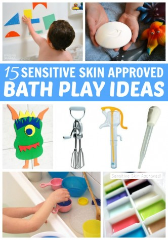 15 Bath Activities for Toddlers who have Sensitive Skin - at B-Inspired Mama
