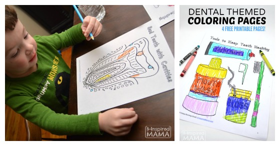 April Coloring Pages Preschool : Dental coloring pages for kids