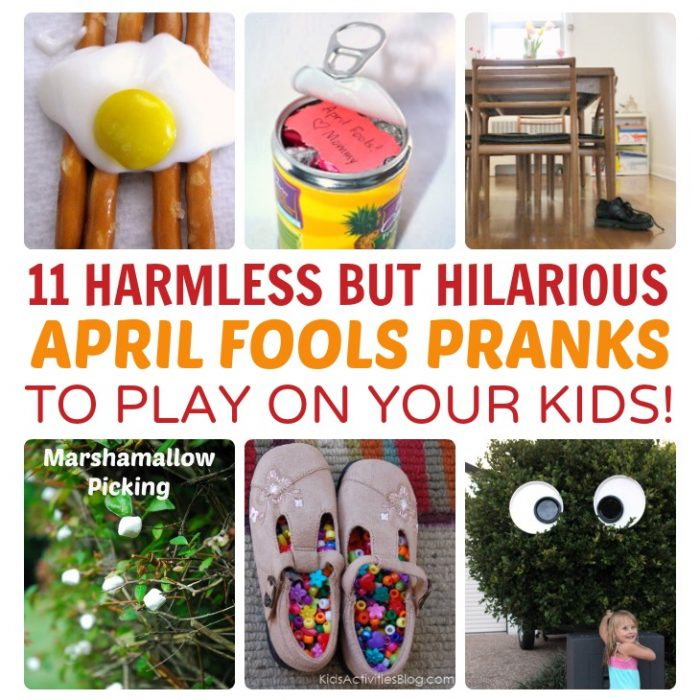 11 Harmless But Funny Pranks to Play on Your Kids this April Fools Day - at B-Inspired Mama