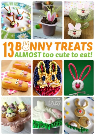 13 Bunny Themed Easter Treats - ALMOST Too Cute to Eat - at B-Inspired Mama
