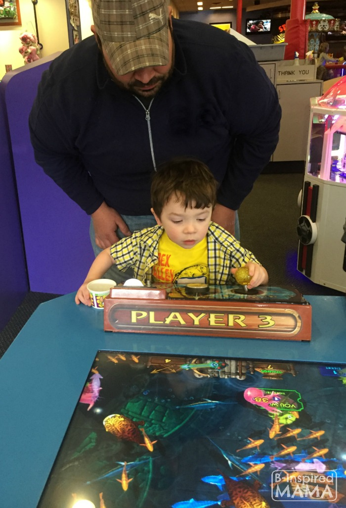 9 Tricks for a Stress-Free Chuck E Cheese's Trip - Assigning an Adult to Little Ones or Using a Buddy System - at B-Inspired Mama