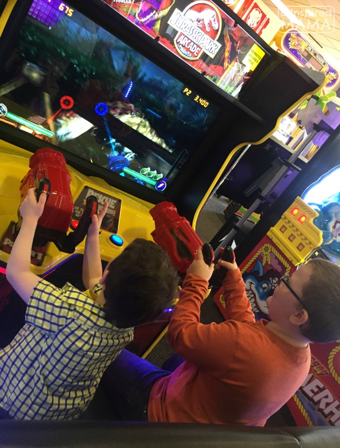 9 Tricks for a Stress-Free Chuck E Cheese's Trip - Being Kind and Taking Turns - at B-Inspired Mama