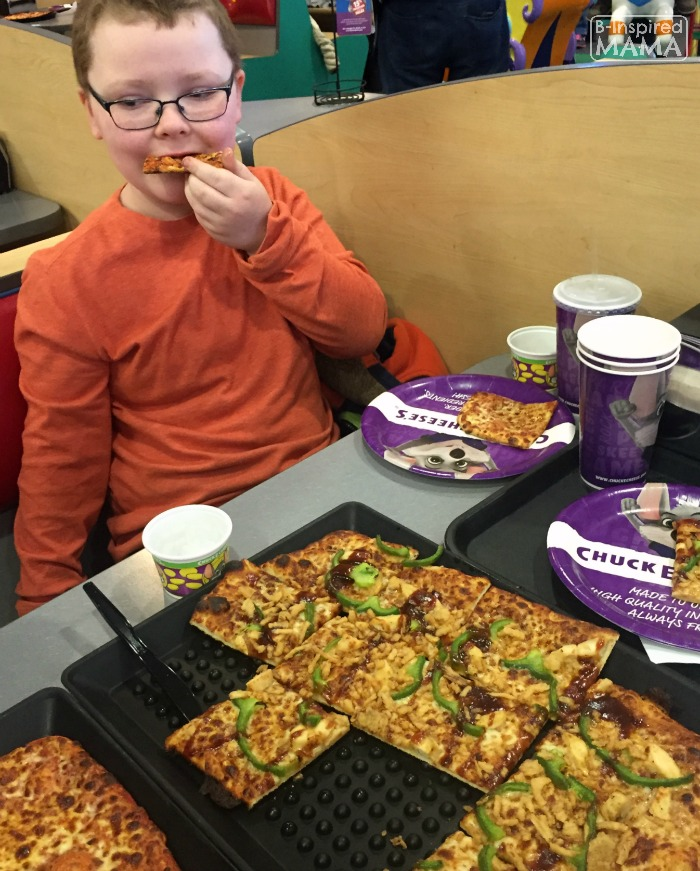 9 Tricks for a Stress-Free Chuck E Cheese's Trip - The Tax Day BOGO Pizza Deal Makes Dinner Easy - at B-Inspired Mama