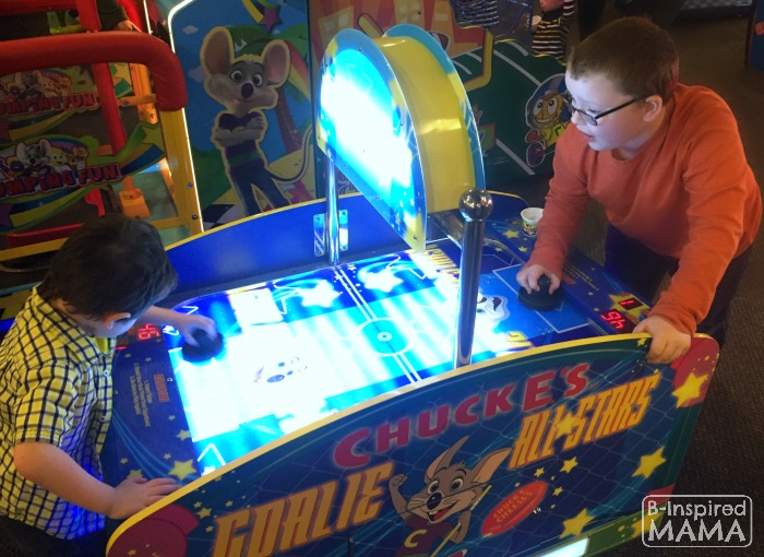 9 Tricks for a Stress-Free Chuck E Cheese's Trip - Use a Buddy System - at B-Inspired Mama