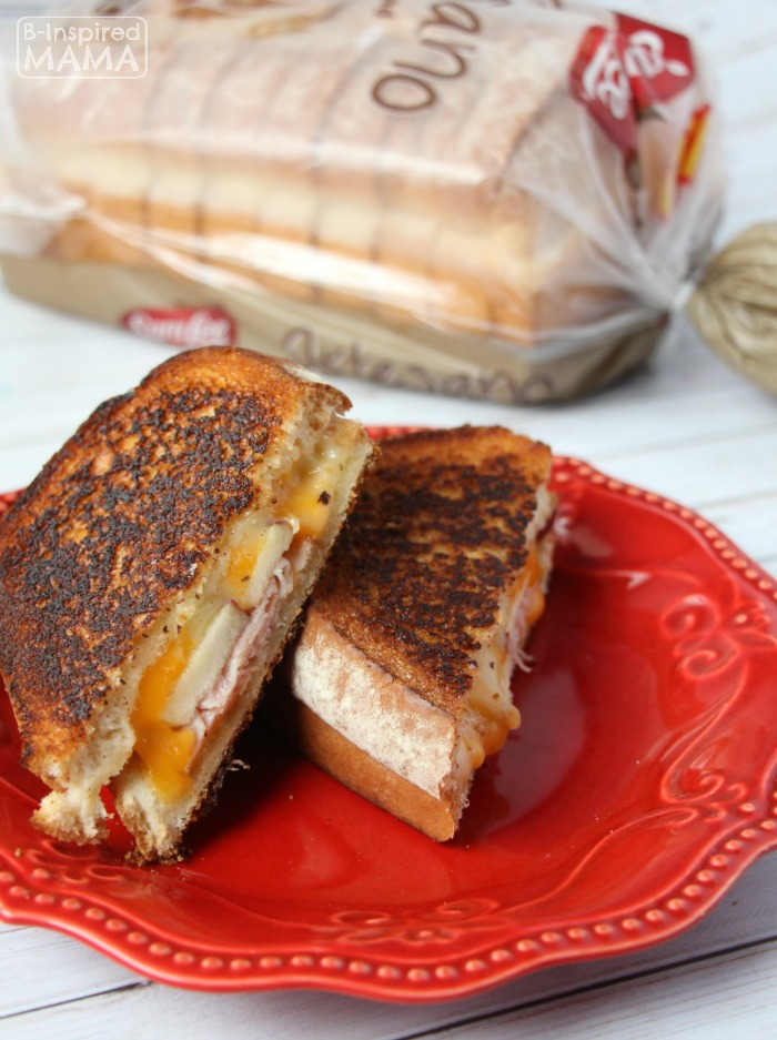 Apple and Ham Grilled Cheese Sandwich - A Fancy Grilled Cheese for ...