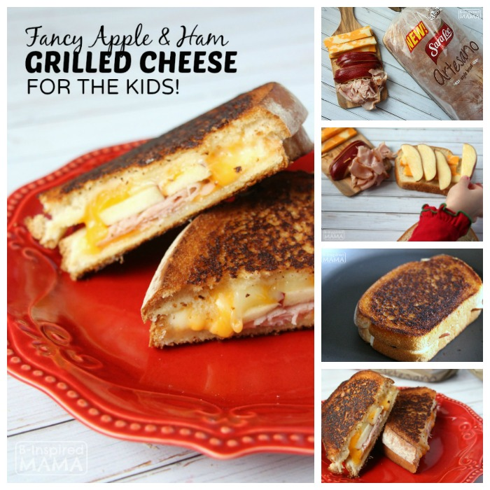 Apple and Ham Fancy Grilled Cheese Sandwich for Kids
