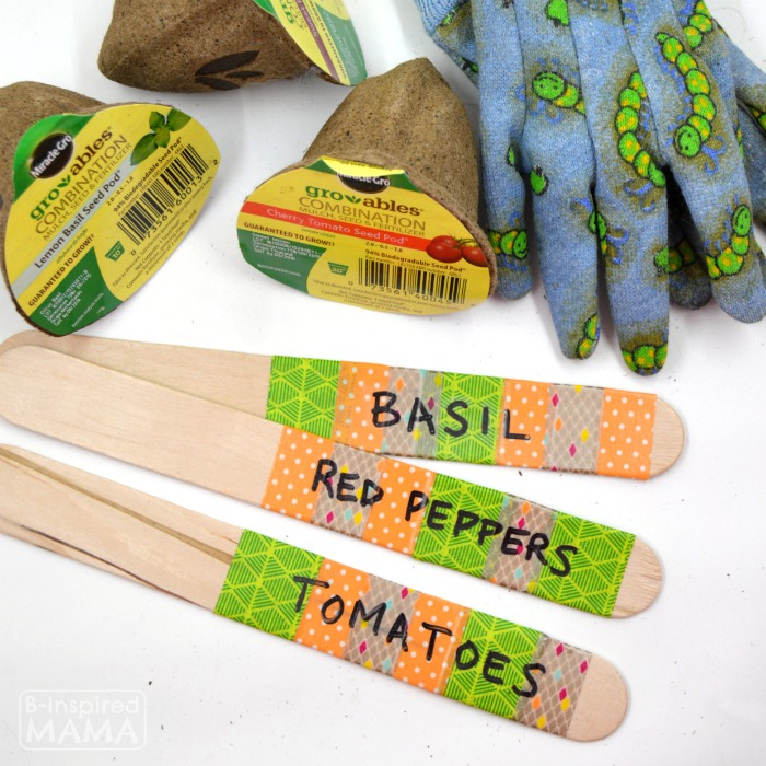 DIY Garden Markers - Easy Enough for Kids - at B-Inspired Mama