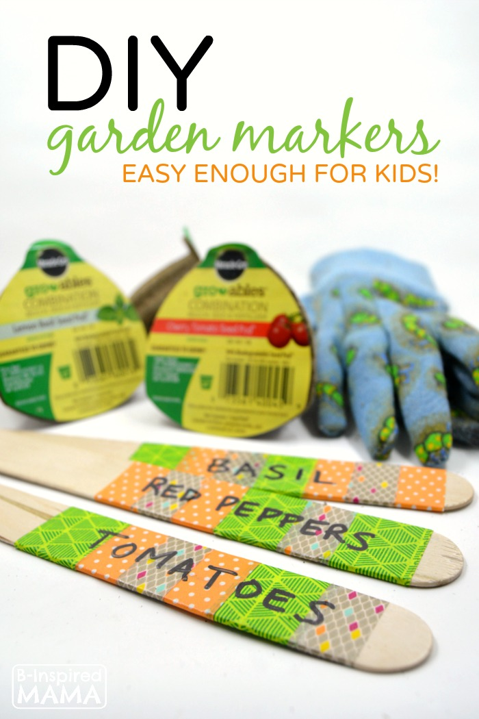 DIY Garden Markers - Easy Enough for Kids to Make - at B-Inspired Mama