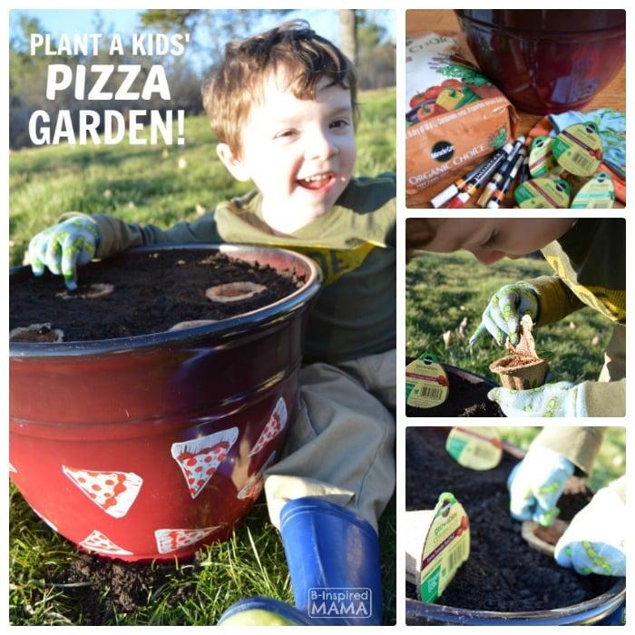Plant a Kids Pizza Garden + DIY Pizza Garden Planter