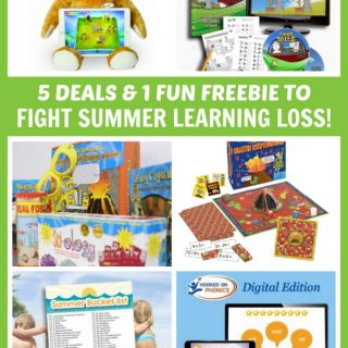 5 Good Deals and 1 Fun FREEBIE to Fight Summer Learning Loss - Who said summer learning had to be a drag? These kids kits and games make summer learning super fun and easy!