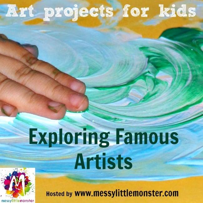 Exploring Famous Artists Blog Hop - George Seurat - Fingerprint Pointillism Painting for Kids - B-Inspired Mama