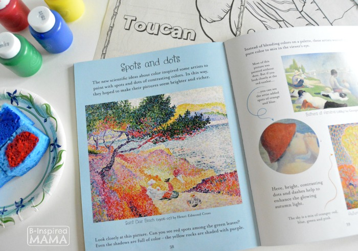 Exploring Famous Artists - Children's Art History Books about George Seurat - with Fingerprint Pointillism Painting for Kids - B-Inspired Mama