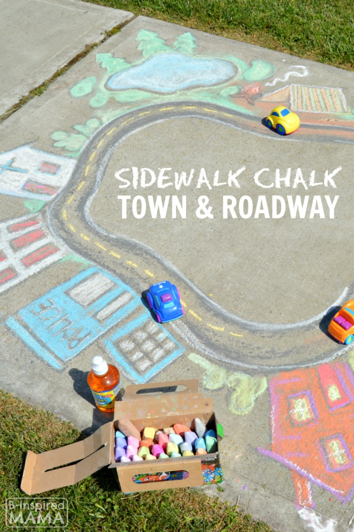 Sidewalk Chalk Art The Kids Can Play In A Giant Chalk Art Town