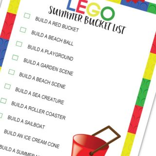 A FREE LEGO Summer Bucket List Printable - to keep the summer I'M BOREDs away - from B-Inspired Mama
