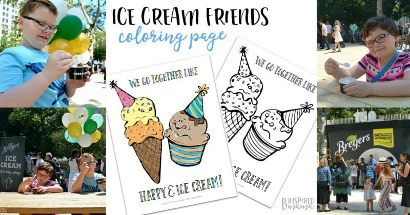 A Happy Ice Cream Coloring Page Breyers Birthday Fun In NYC