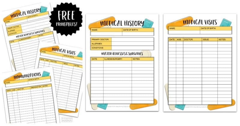Kids Medical History Form Printables - For Back To School Prep