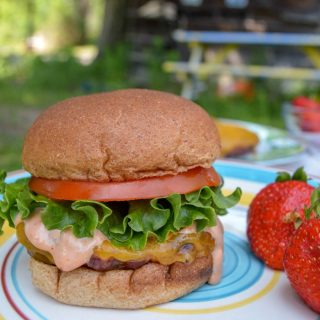The Best Burger Recipe + A Special Sauce Recipe Too - Perfect for a Summer BBQ or 4th of July Picnic with Friends - at B-Inspired Mama