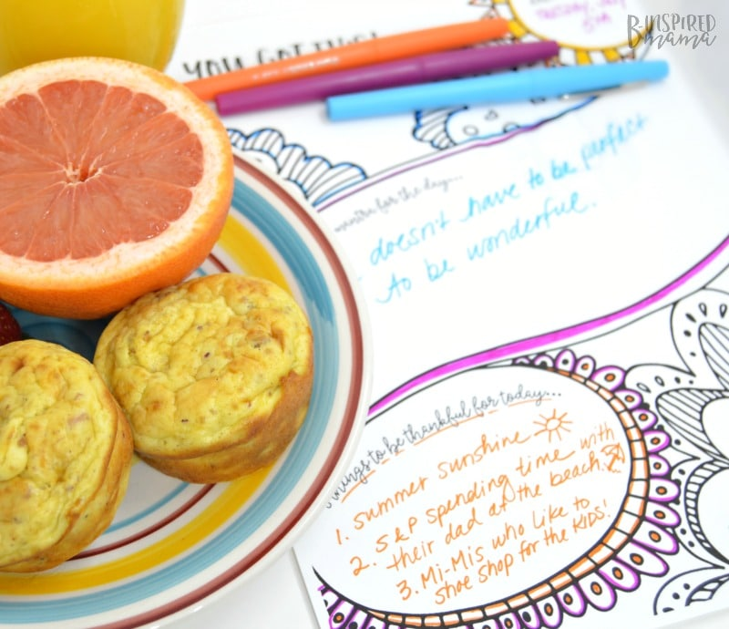 Be a Better Mom with This Simple 3 Step Morning Routine - Gratitude - at B-Inspired Mama