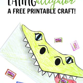 Make a Super Cool Box Tops Eating Alligator - make collecting box tops for education more fun with this free printable kids craft- at B-Inspired Mama
