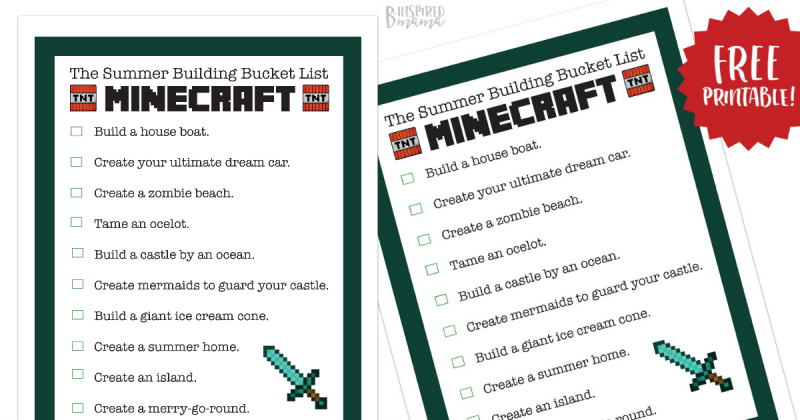 Free Printable Minecraft Building Ideas To Fill The Rest